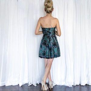 BCBGMaxAzria Dresses - BCBG Strapless Colorful Leopard Print Dress 3d285bceb